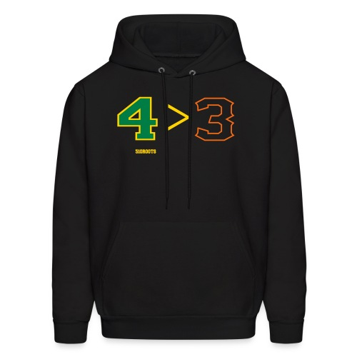 4 is greater than 3 - Men's Hoodie