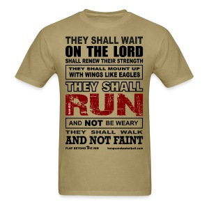 They Shall Run w/dark art - Men's T-Shirt