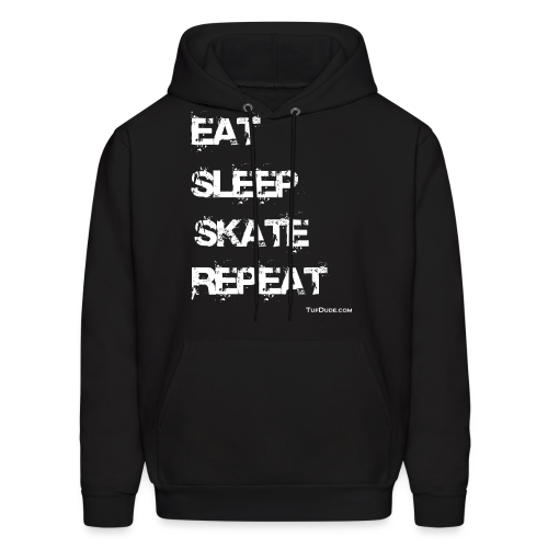Men's Eat Sleep Skate Repeat Hoodie (Front Print) - Men's Hoodie