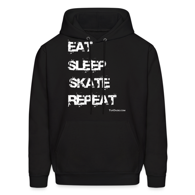 Men's Eat Sleep Skate Repeat Hoodie (Front Print)