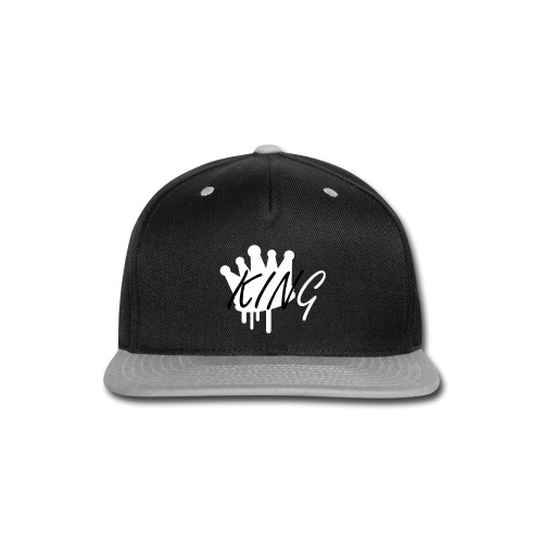 KING Snapback B&W - Snap-back Baseball Cap
