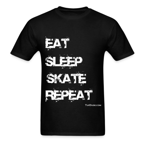 Men's Eat Sleep Skate Repeat wb - Men's T-Shirt