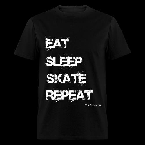 Men's Eat Sleep Skate Repeat wb - Men's T-Shirt