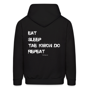 Men's Eat Sleep Tae Kwon Do Repeat Hoodie (Back Print) - Men's Hoodie