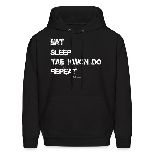 Men's Eat Sleep Tae Kwon Do Repeat Hoodie (Front Print) - Men's Hoodie