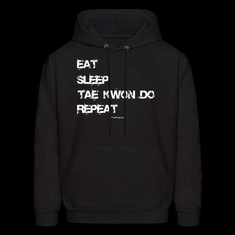 Men's Eat Sleep Tae Kwon Do Repeat Hoodie (Front Print) - Men's Hoodie