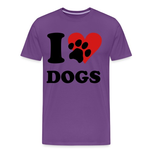 I Love Dogs - Men's Premium T-Shirt