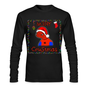Mery Crustmas (RED TEXT) - Men's Long Sleeve T-Shirt by Next Level