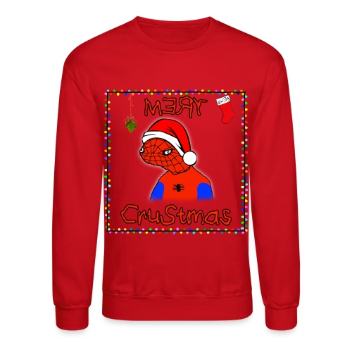 Mery Crustmas (RED TEXT) - Crewneck Sweatshirt