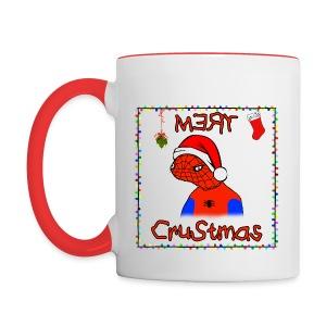 Mery Crustmas (RED TEXT) - Contrast Coffee Mug