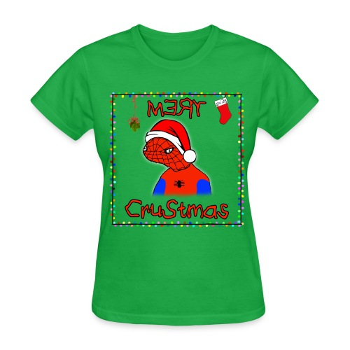 Mery Crustmas (RED TEXT) - Women's T-Shirt