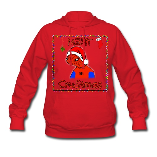 Mery Crustmas (RED TEXT) - Women's Hoodie