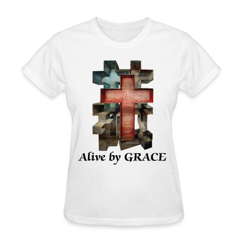 Alive by GRACE Crosses Tee (Ladies) - Women's T-Shirt