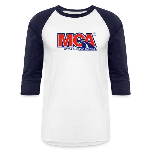 Mens Blue/White Baseball Shirt - Baseball T-Shirt