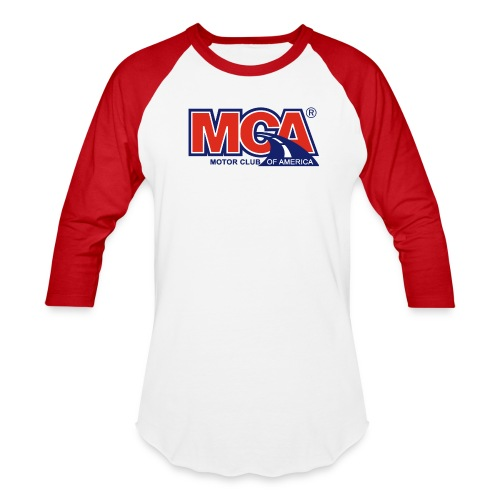 Mens Red/White Baseball Shirt - Baseball T-Shirt