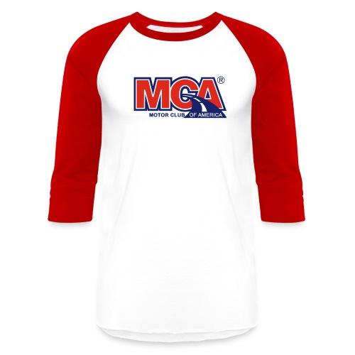 Mens Red/White Baseball Shirt - Baseball T-Shirt