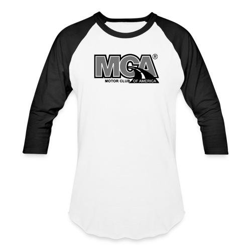Mens Black/White Baseball Shirt - Baseball T-Shirt