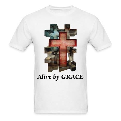 Alive by GRACE Crosses Tee (Men) - Men's T-Shirt