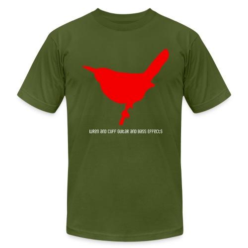 Wren and Cuff Red Logo - Men's Fine Jersey T-Shirt