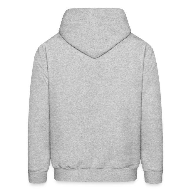 Mens Grey Hooded Shirt