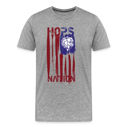 Hops Nation U.S.flag  in red white and blue - Men's Premium T-Shirt