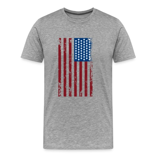 U.S. Flag - Hops and Stripes in red, white, and blue - Men's Premium T-Shirt