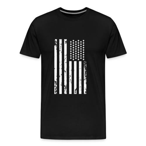 U.S. Flag - Hops and Stripes in white - Men's Premium T-Shirt