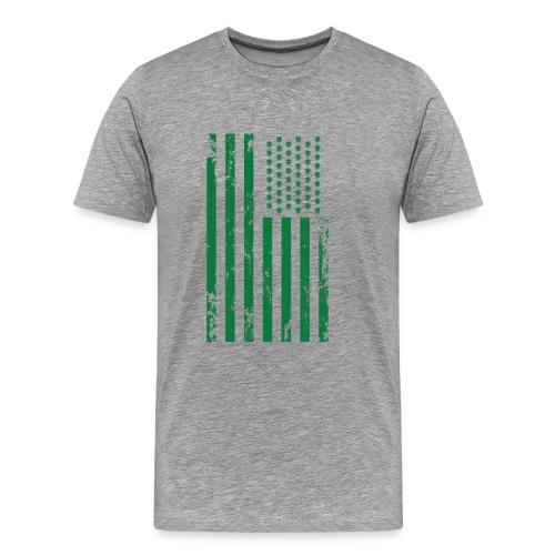 U.S. Flag - Hops and Stripes in green - Men's Premium T-Shirt