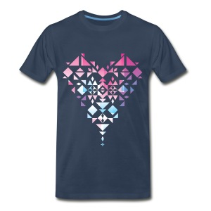 Aztec/Triangle Heart T-Shirts - Men's Premium T-Shirt