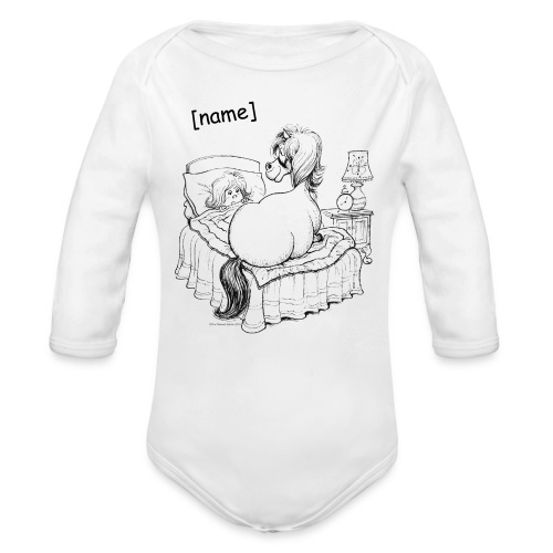 PonyBed Thelwell Cartoon - Long Sleeve Baby Bodysuit