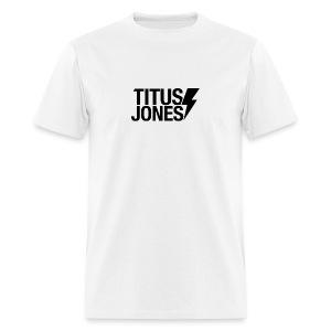 TJ Logo (White Tee) - Men's T-Shirt