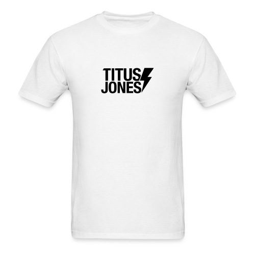 TJ Logo (White Tee) - Men's T-Shirt