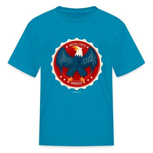 U.S.A. Eagle Kids T-Shirt - Kids' T-Shirt