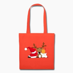 Santa Claus, reindeer and an angel Bags & backpacks