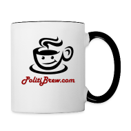 Mugs & Drinkware ~ Contrast Coffee Mug ~ PolitiBrew Logo SF Design