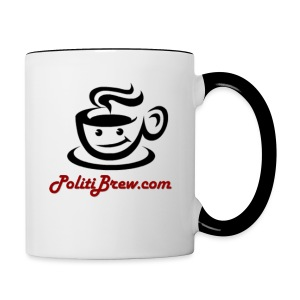 PolitiBrew Logo SF Design - Contrast Coffee Mug