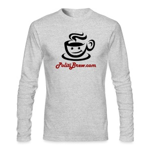 PolitiBrew Logo SF Design - Men's Long Sleeve T-Shirt by Next Level