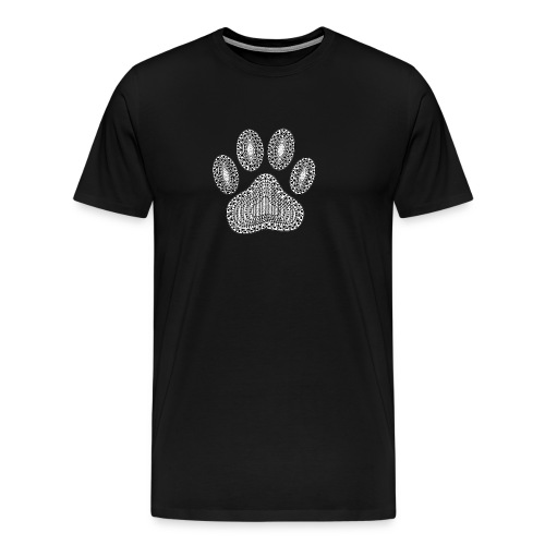 Ink Dog Paw Print - Men's Premium T-Shirt