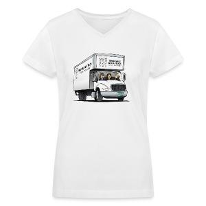 Three Girls and a Truck - Women's V-Neck T-Shirt