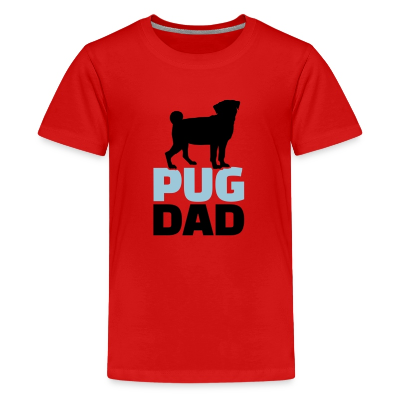pug shirts for kids pug dad t shirt spreadshirt 4743