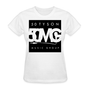 50MG Full Logo black (f) - Women's T-Shirt