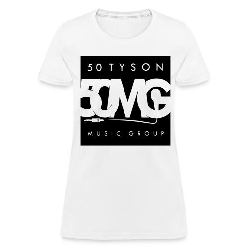 50MG Full Logo black (f) - Women's T-Shirt