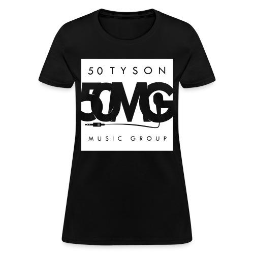 50MG Full Logo white (f) - Women's T-Shirt