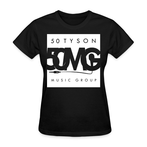 50MG Full Logo white (f) - Women's T-Shirt