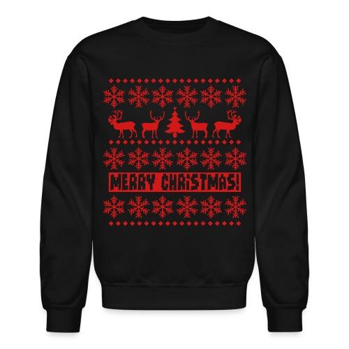 'The Ugly Sweater' Sweatshirt (Black/Red) - Crewneck Sweatshirt