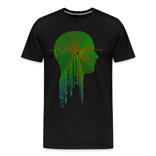 WEST WORLD BRAIN BLIP MAZE MAP - Men's Premium T-Shirt