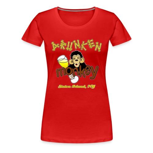 DRUNKEN MONKEY Official Logo Monkey Face - Women's Premium T-Shirt