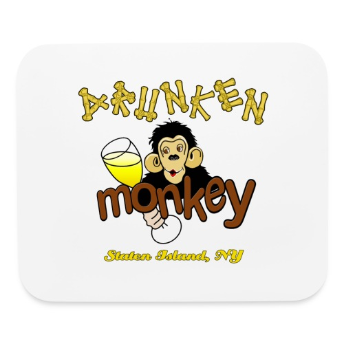 DRUNKEN MONKEY Official Logo Monkey Face - Mouse pad Horizontal