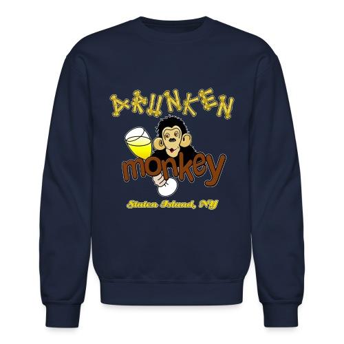DRUNKEN MONKEY Official Logo Monkey Face - Crewneck Sweatshirt