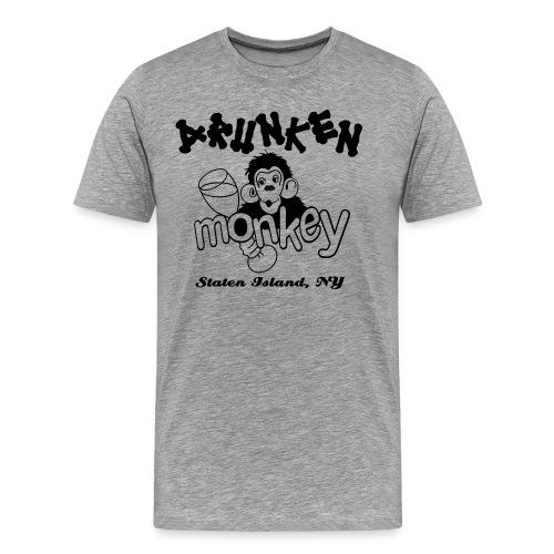 DRUNKEN MONKEY Official Logo Monkey Face - Men's Premium T-Shirt